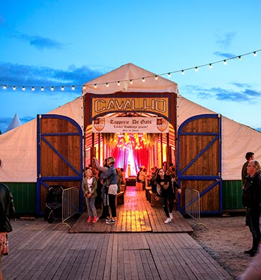 Festivaltent Huren - tent Cavalho